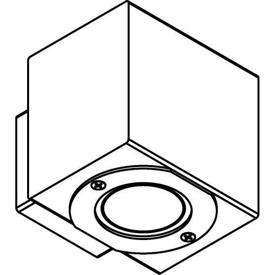 Drawing of W700/.. - MAURO, opbouw wandlicht - vierkant - down