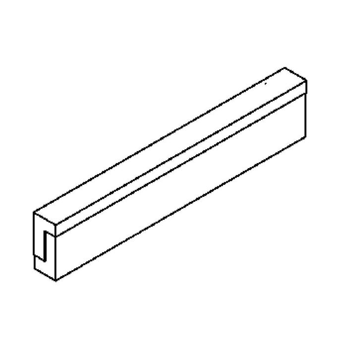Drawing of 641.VL600.LED/.. - MONET STRIP, opbouw wandlicht - inox behuizing + polycarbonaat deksel