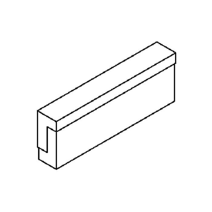 Drawing of 641.VL335.LED/.. - MONET STRIP, opbouw wandlicht - inox behuizing + polycarbonaat deksel
