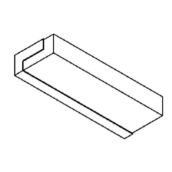 Drawing of 641.HL335.LED/.. - MONET STRIP, opbouw wandlicht - inox behuizing + polycarbonaat deksel