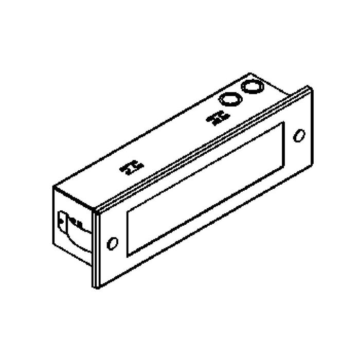 Drawing of 1232ALED/.. - COMPACT LED, inbouw wandlicht - standaard opaal wit glas