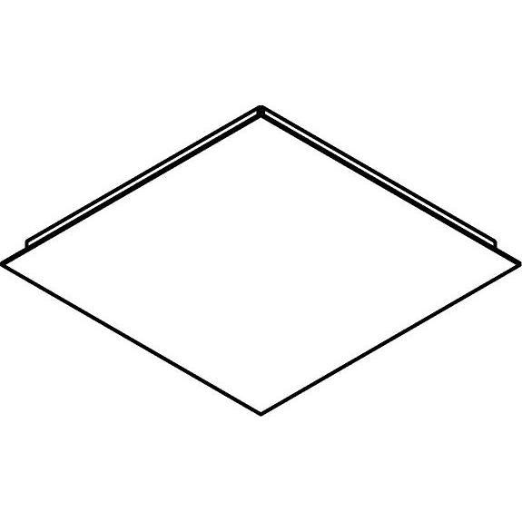 Drawing of 657/.. - TEXO, plafondverlichting - vierkante basis 350x350mm