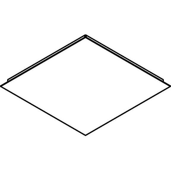 Drawing of 658/.. - TEXO, plafondverlichting - vierkante basis 400x400mm