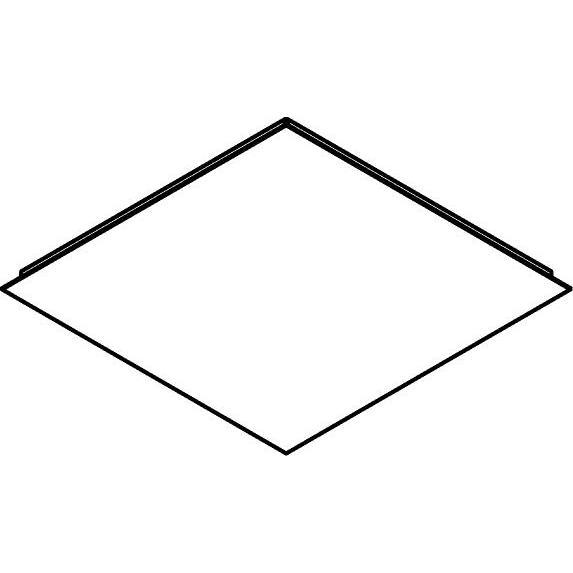 Drawing of 659/.. - TEXO, plafondverlichting - vierkante basis 500x500mm