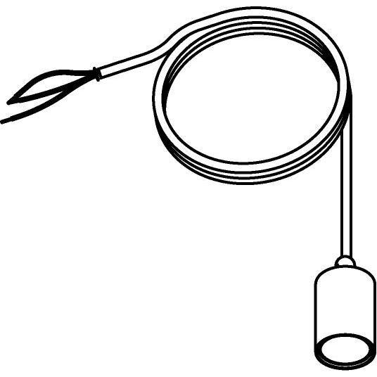 Drawing of 5003A.3/.. - MAESTRO, hanglamp - met 3m textielkabel en trekontlasting aan fitting
