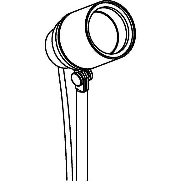 Drawing of T7050/.. - UFO MINI, tuinpaal met grondpin - richtbaar - met 1,5m kabel - met glas - met scharnier - grondpin meegelakt bij lakkleur