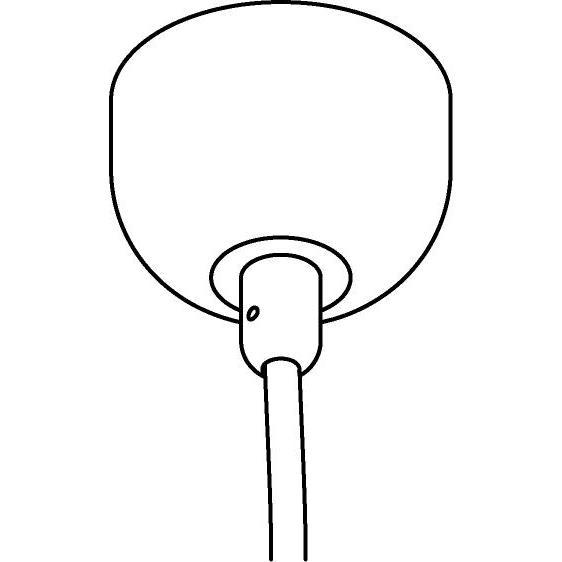 Drawing of 054B/.. - ROSETTE for textile cable, opbouwrozet - verbindingsdoos met trekontlasting voor 1 textielkabel