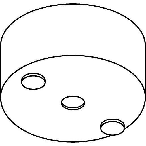 Drawing of 061/.. - ROSETTE UP, built-up base - base for built-up spotlight