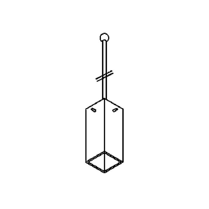 Drawing of 4025.G9.B3/.. - MAX G9, hanglamp met bolgewricht - stang inkortbaar