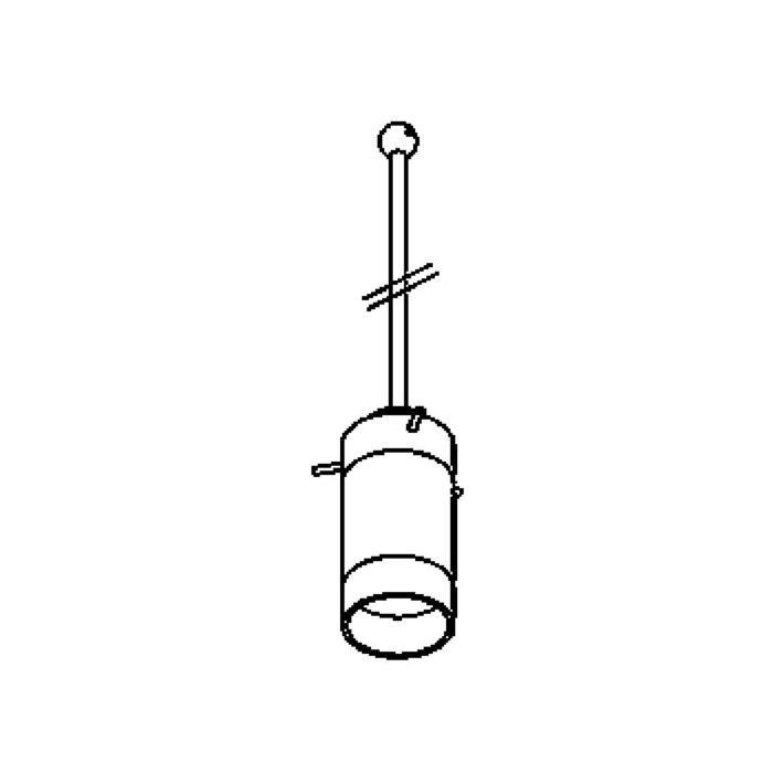 Drawing of 4026.G9.B3/.. - GUILIA A - G9, hanglamp met bolgewricht - stang inkortbaar