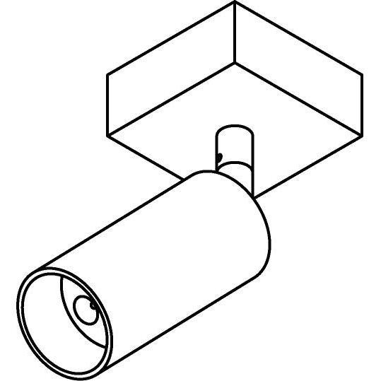 Drawing of 4520/.. - JACOBINE, opbouw plafondverlichting - richtbaar - met basis 025 - zonder LED driver
