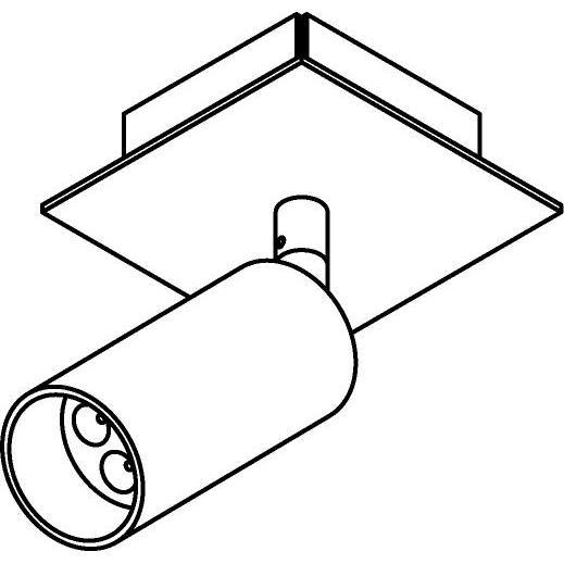 Drawing of 4521/.. - JACOBINE, opbouw plafondverlichting - richtbaar - met basis Texo - zonder LED driver