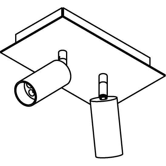 Drawing of 4522/.. - JACOBINE, opbouw plafondverlichting - richtbaar - met basis Texo - met LED driver