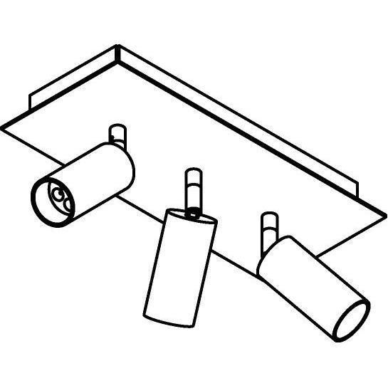 Drawing of 4523/.. - JACOBINE, opbouw plafondverlichting - richtbaar - met basis Texo - met LED driver
