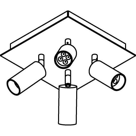 Drawing of 4525/.. - JACOBINE, opbouw plafondverlichting - richtbaar - met basis Texo - met LED driver