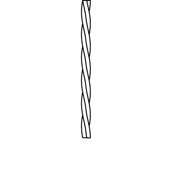 Drawing of TXTWIST/.. - TEXTILE TWISTED CABLE, gedraaide textielkabel 3x0,75 /m