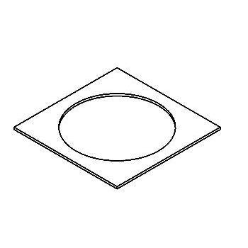 Drawing of ADAPTION SQ/.. - ADAPTION RING, toebehoren - vierkant - vergrootring vierkant