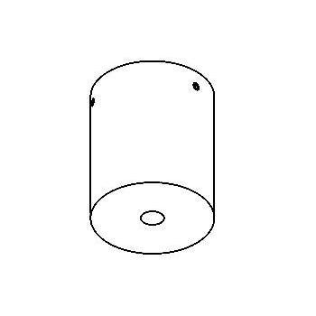 Drawing of 021.ZT/.. - ROSETTE UP, opbouwrozet - rond - zonder transfo