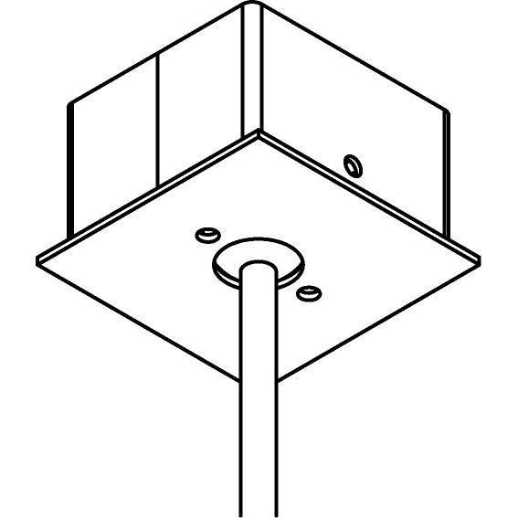 Drawing of 063/.. - ROSETTE UP, verbindingsdoos B3 voor tige Ø12mm