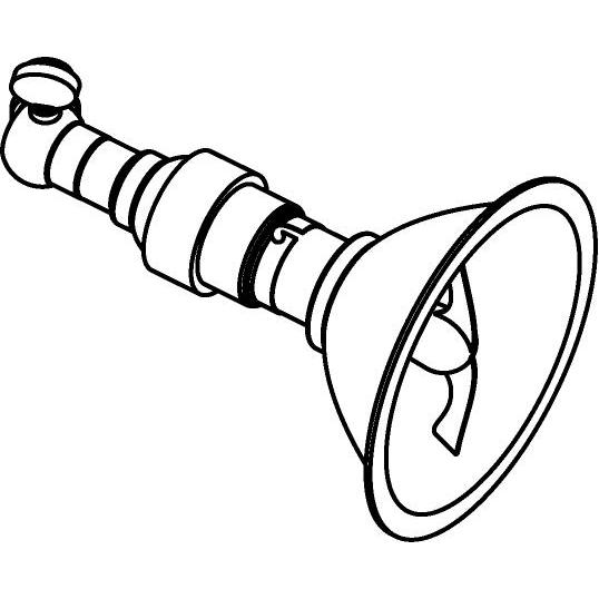 Drawing of 5041/.. - PULA, opbouwspot - rond - richtbaar - met kniegewricht - zonder transfo