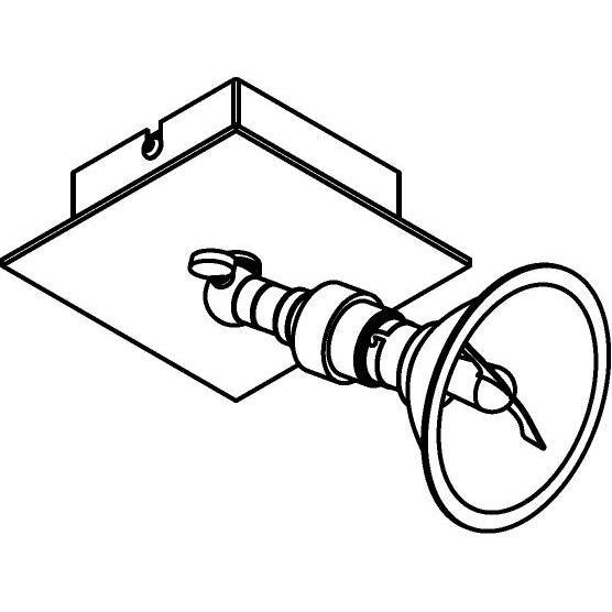 Drawing of 5044/.. - PULA, opbouw plafondverlichting - richtbaar - AR70 - zonder transfo