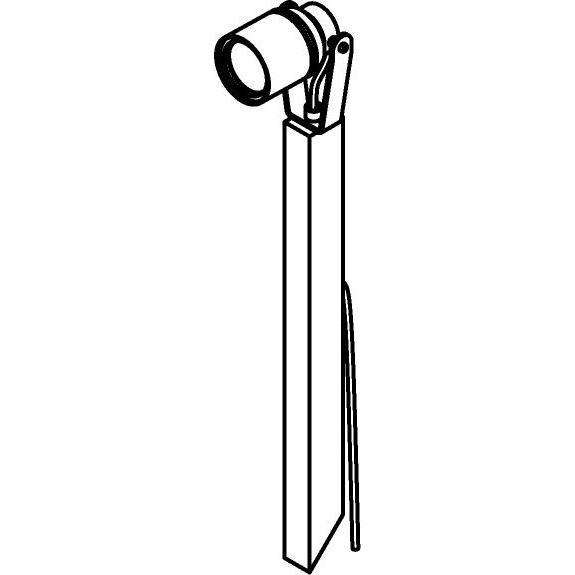 Drawing of T7053.450/.. - UFO MINI, tuinpaal met grondpin - met glas - H pin 450mm - met 1,5m kabel en stekker