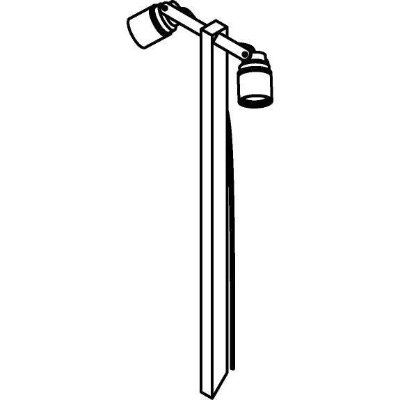 Drawing of T7054.850/.. - UFO MINI, tuinpaal met grondpin - met glas - H pin 850mm