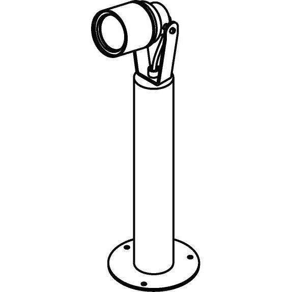 Drawing of T7057.300/.. - UFO MINI, tuinpaal met grondplaat - op ronde buis - met glas