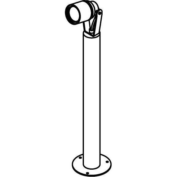 Drawing of T7057.500/.. - UFO MINI, tuinpaal met grondplaat - op ronde buis - met glas