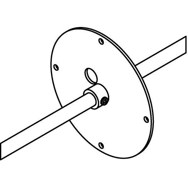 Drawing of T7048/.. - UFO MINI, accessoires voor tuinverlichting - steunplaat + vijs