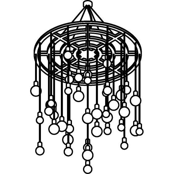 Drawing of 5085.40/.. - GALAXY WHEEL, hanglamp - vast