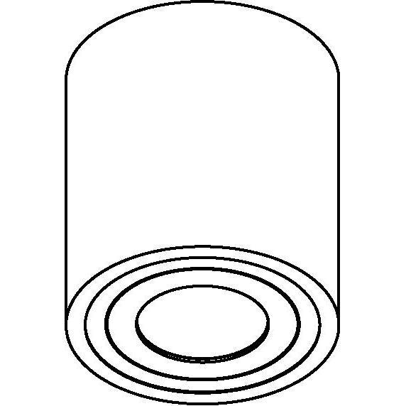 Drawing of 1758/.. - KOX, opbouw plafondverlichting - rond - vast - down