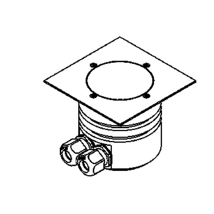 Drawing of 1165.130.A/.. - LAVA, vloerspot met afdekkader op de bevloering - vast - LED 230V