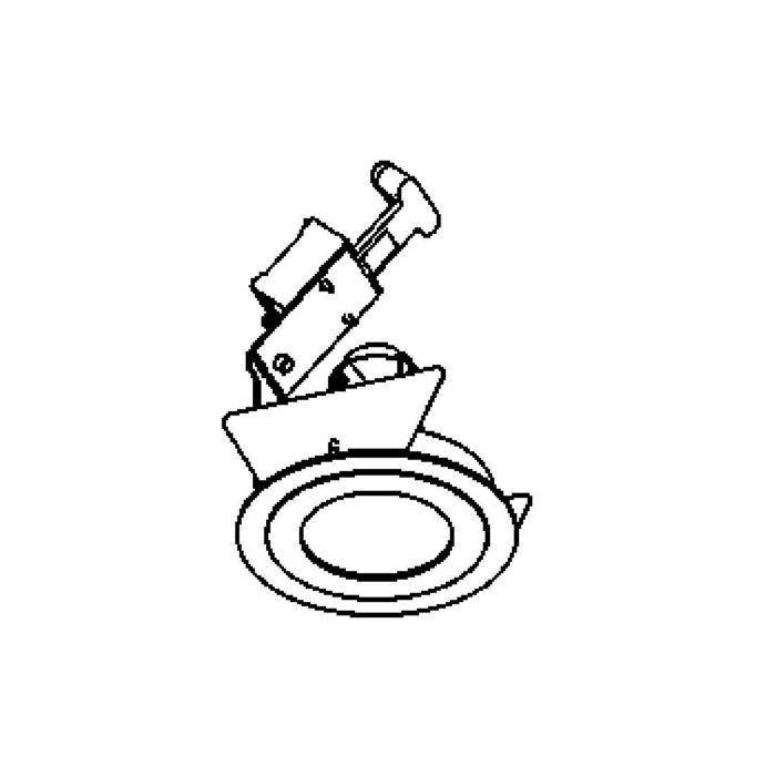Drawing of ARIAOUT/.. - Ø80, inbouwspot - rond - vast - voor buitengebruik