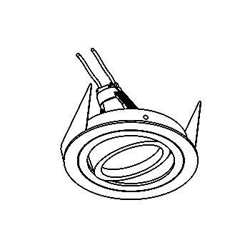 Drawing of DIVA50OUT/.. - Ø80, inbouwspot - rond - richtbaar - voor buitengebruik - zonder transfo
