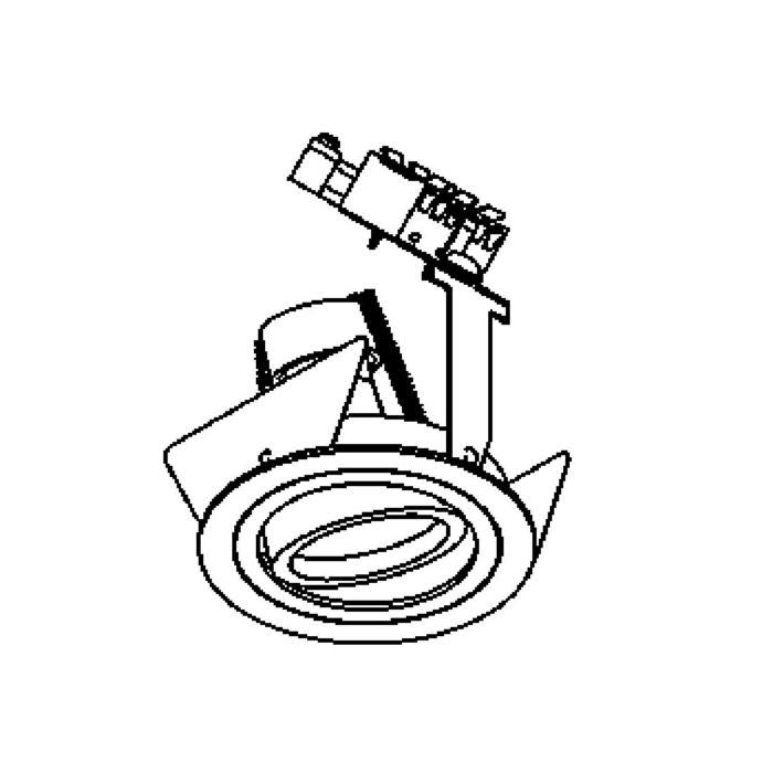 Drawing of CAMBIOOUT/.. - Ø80, inbouwspot - rond - richtbaar - voor buitengebruik