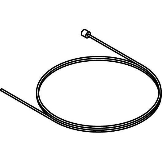 Drawing of P041/.. - STAALKABEL, staalkabel 2,25 meter met nippel