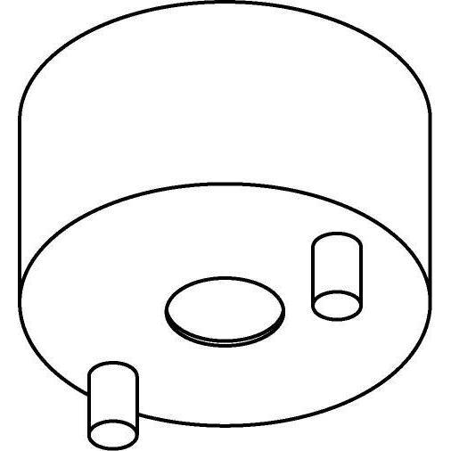 Drawing of 060.B3.D12/.. - ROSETTE for pendant, opbouwrozet - verbindingsdoos voor tige Ø12mm B3