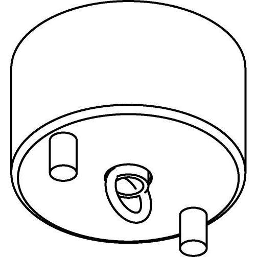 Drawing of 066/.. - ROSETTE HOOK, rond - verbindingsdoos met gesloten lusterhaak