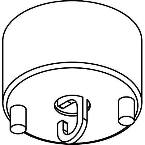 Drawing of 064/.. - ROSETTE HOOK, rond - verbindingsdoos met open lusterhaak