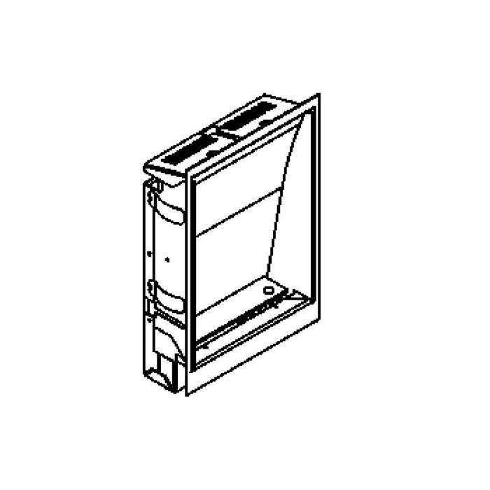 Drawing of 1235A.LED/.. - SCREEN LED, inbouw wandlicht - asymmetrisch