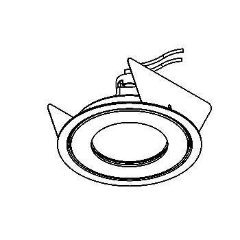 Drawing of PICO50LNOUT/.. - Ø80 PUNCHED, inbouwspot geponst - rond - vast - voor buitengebruik - zonder transfo