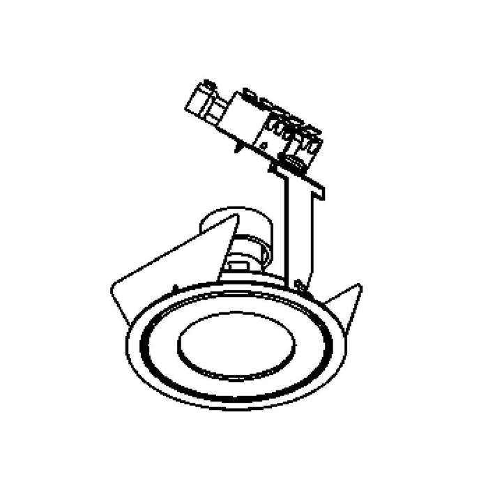 Drawing of PICO50.ES50LNOUT/.. - Ø80 PUNCHED, inbouwspot geponst - rond - vast - voor buitengebruik