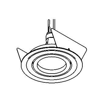 Drawing of DIVA50LNOUT/.. - Ø80 PUNCHED, inbouwspot geponst - rond - richtbaar - voor buitengebruik - zonder transfo