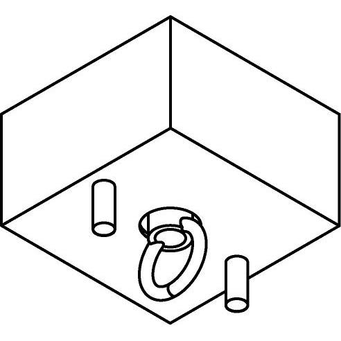 Drawing of 069/.. - ROSETTE HOOK, verbindingsdoos met gesloten lusterhaak