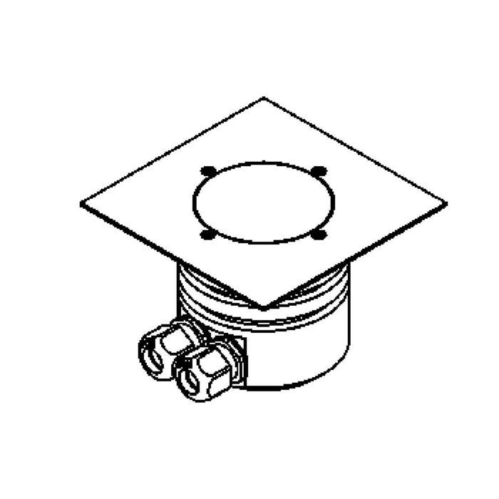 Drawing of 1165.150.B/.. - LAVA, vloerspot met afdekkader op de bevloering - vast - zonder transfo