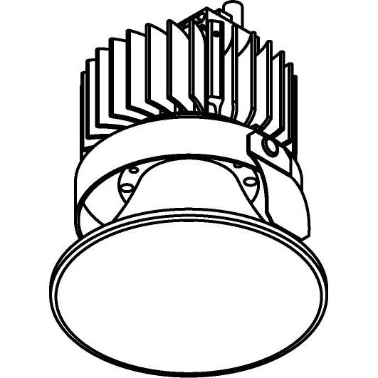 Drawing of 1503.S2/.. - CAMELEON CITIZEN LED, inbouwspot - rond - vast - down - conisch