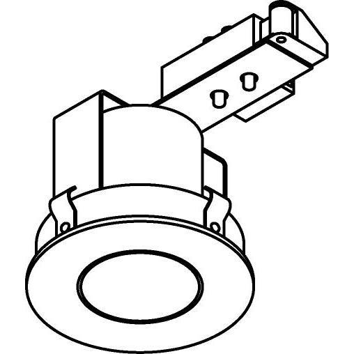 Drawing of CASMAESTRO.E27/.. - Ø80 SYSTEM, cassette encastrable - rond - fixe - avec douille E27