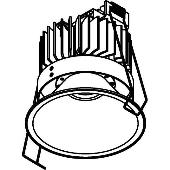 Drawing of 1502.S1/.. - CAMELEON CITIZEN LED, inbouwspot - rond - vast - down - conisch