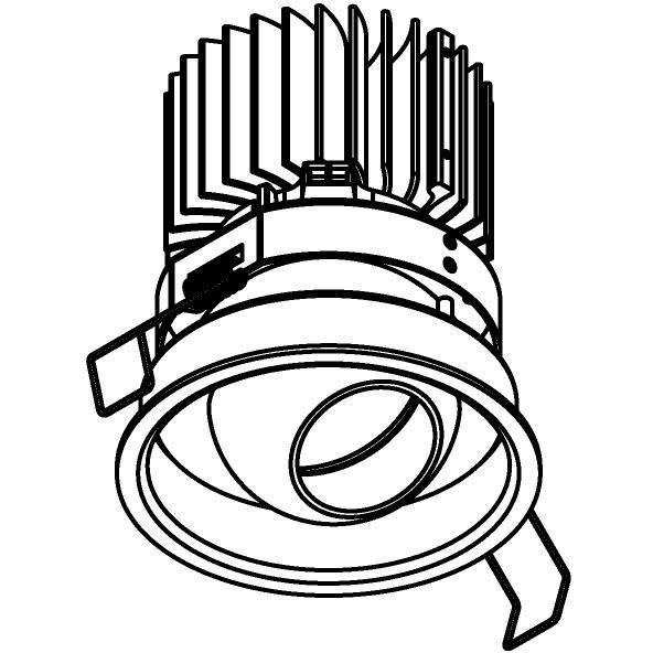 Drawing of 1505.S1/.. - CAMELEON CITIZEN LED, inbouwspot - rond - richtbaar - down